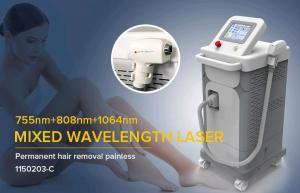 China Three wavelengths Diode laser 755nm 808nm 1064nm  Painless Permanent hair removal device of beauty salon /medical clinic on sale