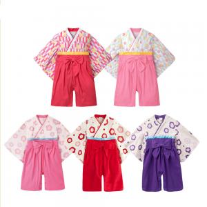 China 2019 Spring Cute Newborn Baby Clothes Japanese Kimono Romper Long Sleeve on sale