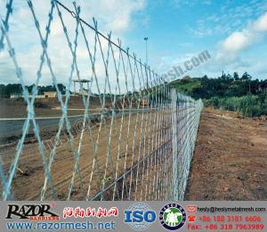Wire Fence For Sale   Welded Razor Mesh Razor Wire Fencing Diamond Razor Mesh Fence For