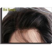 China Human Hair Lace Top Closure Illusion Frontal 4 Inch By 13 Inch Lace Size Natural Color on sale