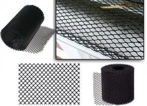 China Aluminum 2mm X 6mm Mesh Gutter Guards For Increasing Gutter Life Black Color on sale