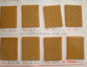 China Tan color Shoe Sole Rubber Sheet Wear Resistant Different Textures supplier