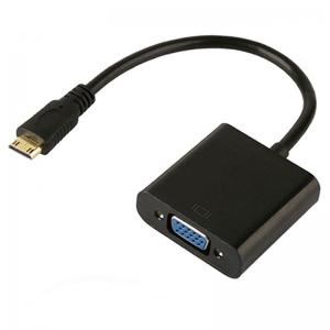 China 15cm Cable Male To Female 480p 720p 1.4 HDMI To VGA Adapter on sale