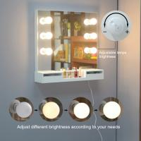 China Wall Mounted USB Interface 4mm Mirror Wood Makeup Dressing Tables on sale
