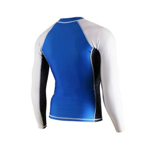 China Classic mens surfing suit snorkeling diving scuba suit white blue lycra suit anti-jellyfish manufacturer on sale