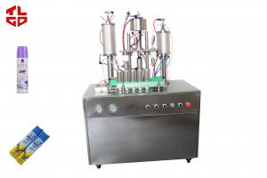 China Spray Can Automatic Liquid Filling Machine , Aerosol Cans Filling Machinery on sale