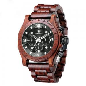 China Luxury Business Multifunction Wrist Watch Mens Wooden Watch Waterproof on sale