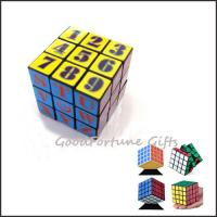 China customed logo Eco printed logo magic cube block square promotion gift toy on sale