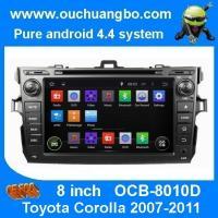 Ouchuangbo autoradio DVD stereo navi Toyota Corolla 2007-2011 3G wifi bt MP3 android 4.4