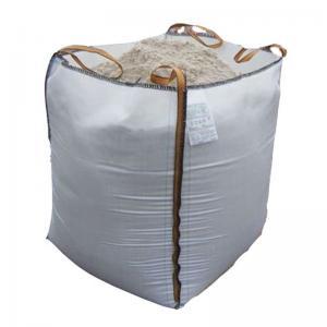 China White PP FIBC 1 Ton Bulk Bag For Packing Sand / Cement 1 Ton / 500kg / 600kg on sale
