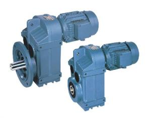 China Parallel Shaft Helical Geared Motor Worm Gear Speed Reducer , P Series on sale