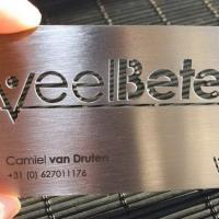 plastics products metal business card with custom company logo