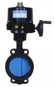 China Angle Stroke  Electric Butterfly Valve , Actuated  Motor Operated Butterfly Valve  Modulatig Torque 100Nm on sale