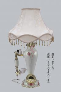China table lamp with telephone,TH-1002,mixed material table lamp,white color table lamp with telephone on sale