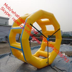 China Inflatable Fun Roller, Inflatable Water Roller, Inflatable Wheel Roller water sport games on sale