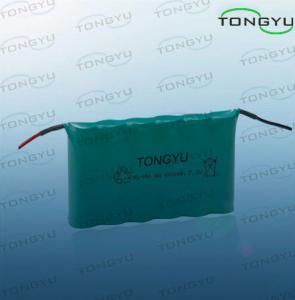 China NI-MH AA 7.2V 600mAh Nimh Rechargeable Battery With Cables For Led Lighting Kits on sale