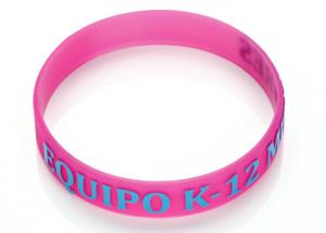 China 3D Printed Promotional Silicone Bracelets Custom Silicone Rubber Wristbands on sale