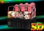 Truck Mobile 5.1 Sound Track 5D Movie Theater With Bubble / Rain / Wind Effect