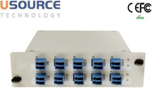 Quality Low Loss 8ch 16ch 100Ghz DWDM Mux Demux LGX And ABS Box Package Module for sale