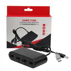 Quality Adapter for Gamecube Controller to Wii U Nintendo Switch PC USB 4 Port Connector for sale