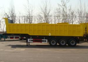 China 3 Axle 34cbm Hydraulic Dump Semi Trailer With High Strength Steel Frame Body on sale