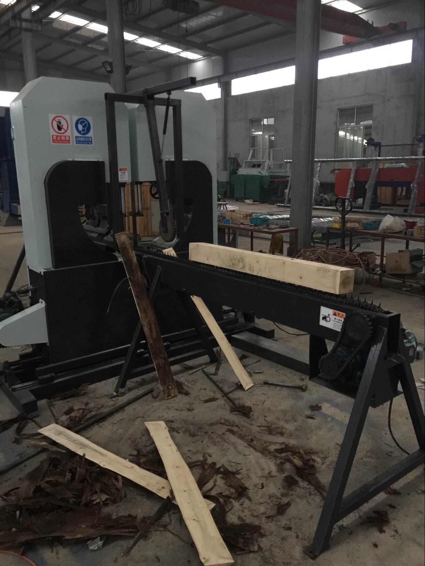 twin heads wood cutting band saw dual woodworking band saw double