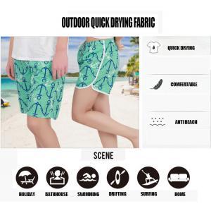 China Beach Shorts Summer Dress Fashion Girl mini pleated Swimwear Quick Drying Seascape Prints Elastic Waist Band and String on sale