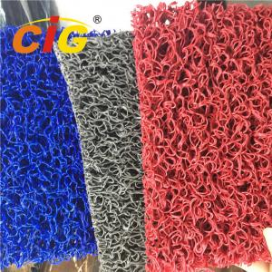 China Colored Looping Yarn PVC Floor Covering Carpet Rolls , Door Floor Mats 1.22m X 18m on sale