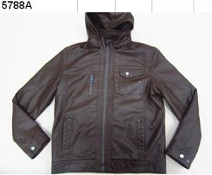 China stock man pu jacket on sale