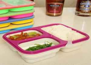 Quality Easy - Clean Eco Silicone Collapsible Lunch Box Non Stick FDA / LFGB Standard for sale