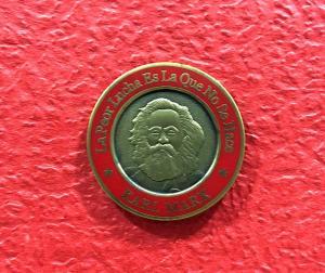 China Retro Marx Lapel Enamel Pins Iron / Brass / Aluminum Material For Souvenir on sale