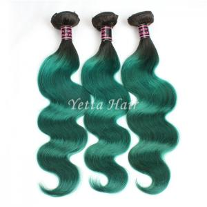 China Green Unprocessed Brazilian Body Wave Human Hair Weave Tangle Shed Free on sale