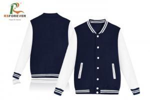 China Customized Men Hooded Sweatshirt Jacket / Baseball Crewneck Sportswear Jacket on sale