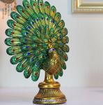 European classic Peacock Spread His Tail craftwork Decoration