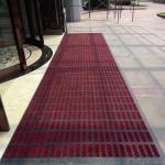 entrance mat/modular mat/interlock mat/carpet tile/tile mat/dust-proof mat/Type I, red and gray