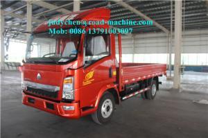 China 1 - 10 Ton Sinotruk Howo 4x2 Light Duty Commercial Cargo Trucks ZZ1047C2813C145 on sale