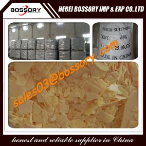 Quality leather/dyeing/textile using SODIUM SULFIDE 60% /SODIUM SULPHIDE 60% for sale