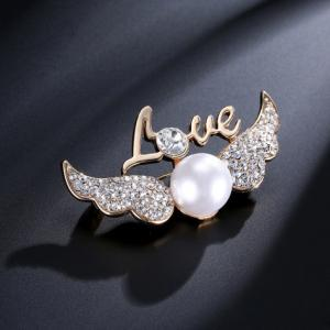 China pearl brooch wholesale on sale