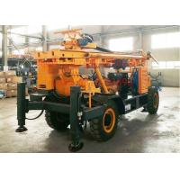 Heavy Duty Water Well Drilling Rig Trailer Mounted For Mud And Air Drilling
