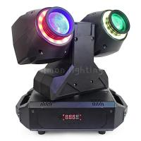 China Unlimited Pan Rotation Double Head 30w RGBW 4in1 Mini Dual Beam LED Moving Head  Light on sale