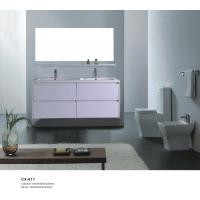 China White Color PVC Bathroom Vanity with Four Drawers 1000*460*820mm on sale