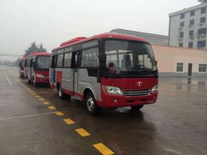 China Durable Red Star Travel Buses With 31 Seats Capacity Small Passenger Bus For Company on sale