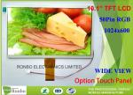 Customized 10.1 Inch TFT LCD Display 5.1mm Thickness 1024 * 600 Resolution
