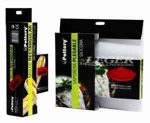 China Silicone Kitchenware / Silicone Bowl Packaging Boxes Cardboard Stock Glossy Finishing on sale