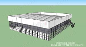 China 2014 latest design 1000 people Cube Structure Double Decker Tent for sale on sale