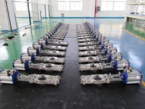 China CL150/PN16 CF8M STAINLESS STEEL SS304/SS316/A216 WCB WAFER OR FULLY LUGGED THROUGH CONDUIT KNIFE GATE VALVE on sale