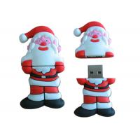 8GB USB Flash Disk Custom Red Santa Claus Cartoon For Christmas Gift