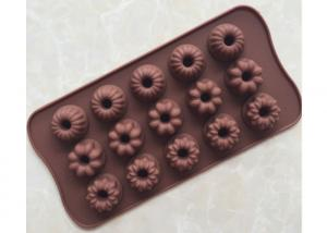 China 21.5 * 11.0 * 2.0cm Silicone Chocolate Molds Custom Color With Flower Shape on sale