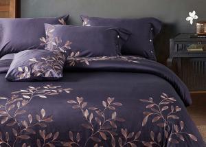 China Leaf Pattern Beautiful Bedding Sets 4Pcs , 100 Percent Cotton Bedding Sets on sale