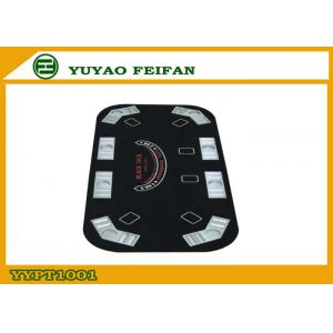China Black Jack Oval Foldable Poker Table For Entertainment 160 x 80 x 1.2 cm on sale